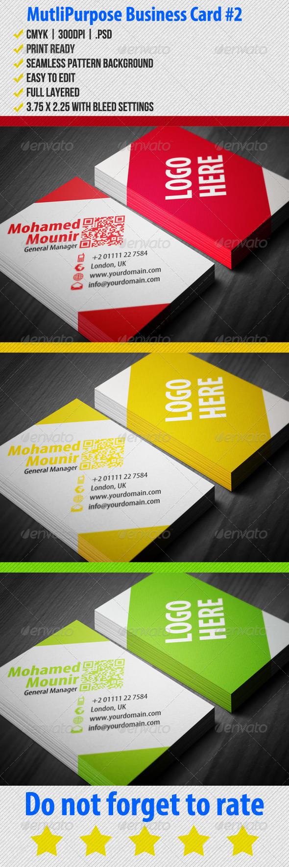 GraphicRiver Multipurpose Business Card 2 3576518