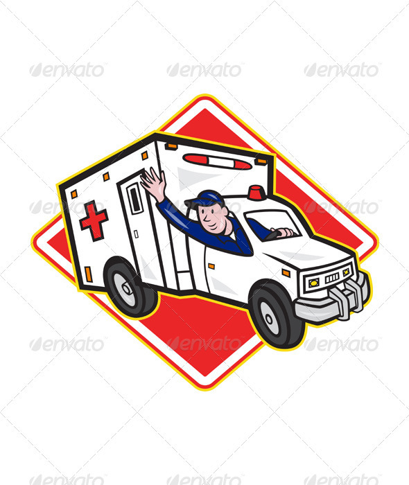 GraphicRiver Ambulance Vehicle Emergency Medical Technician 3576649