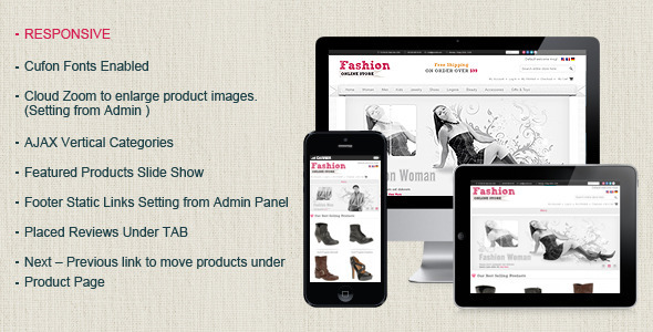 Fashion Magento Template - Magento eCommerce