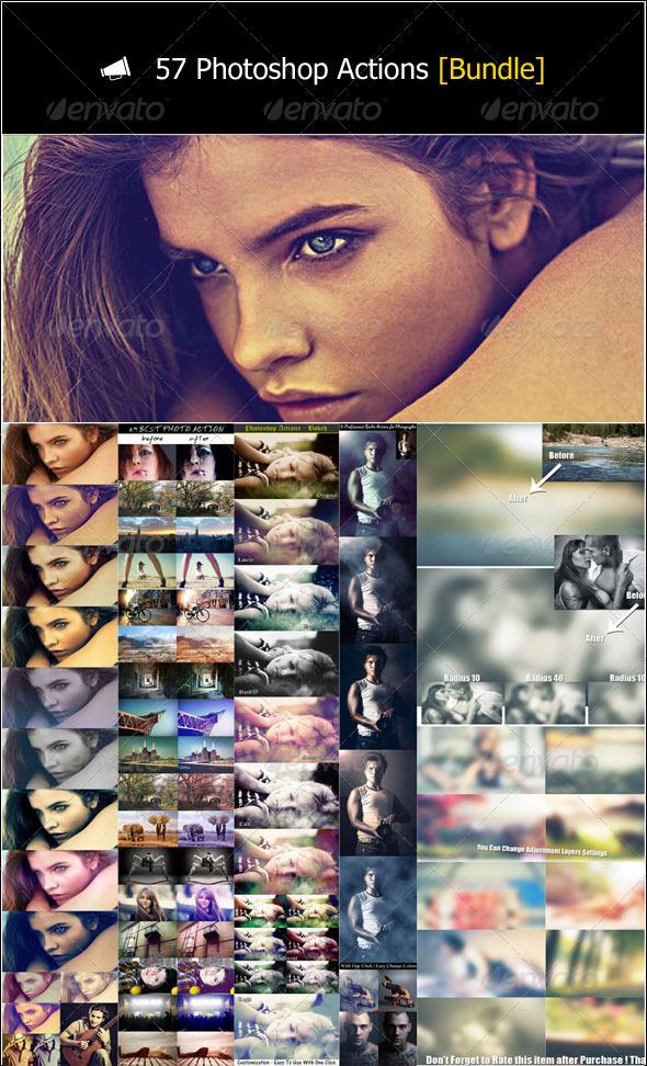 GraphicRiver 57 Photoshop Actions [Bundle] 3357469