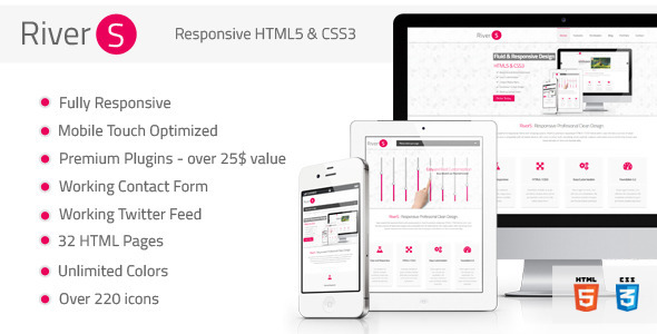 Rivers Responsive Premium Multipurpose HTML5 - Creative Site Templates