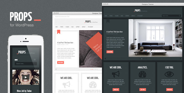 Props, a Responsive Agency WordPress Theme - Corporate WordPress