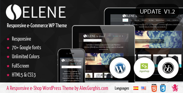 ThemeForest Selene Fullscreen e-Commerce WordPress Theme 2724282