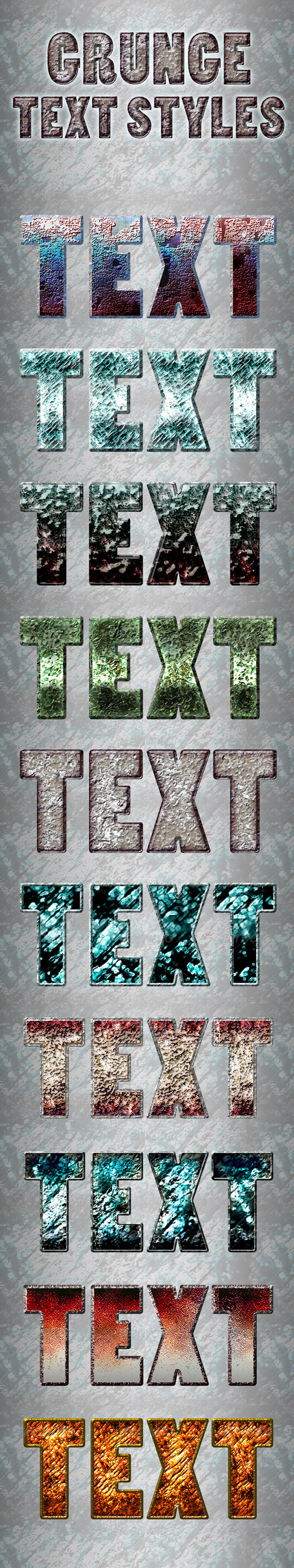 GraphicRiver Grunge Text Styles 3579492