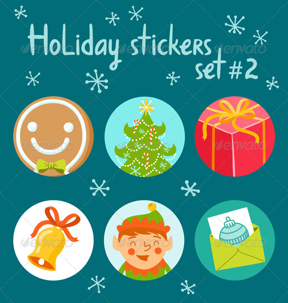 GraphicRiver Holiday Stickers Set 2 3580297