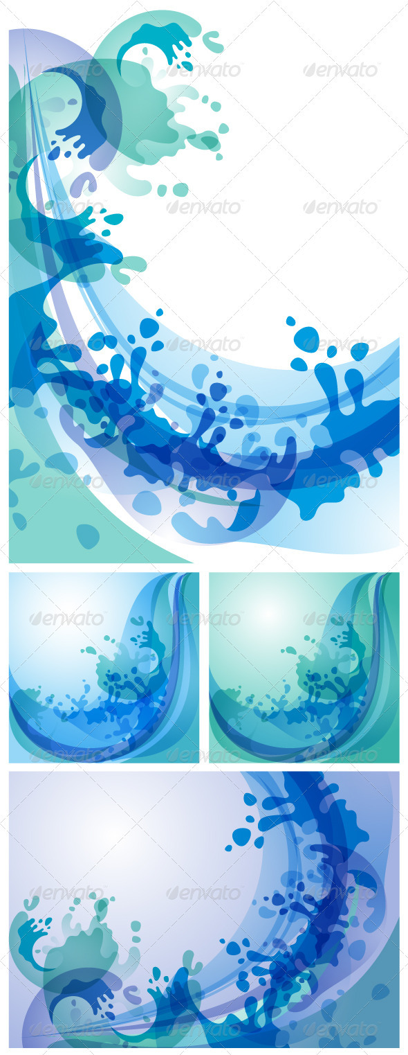 GraphicRiver Water Backgrounds Set 3580458
