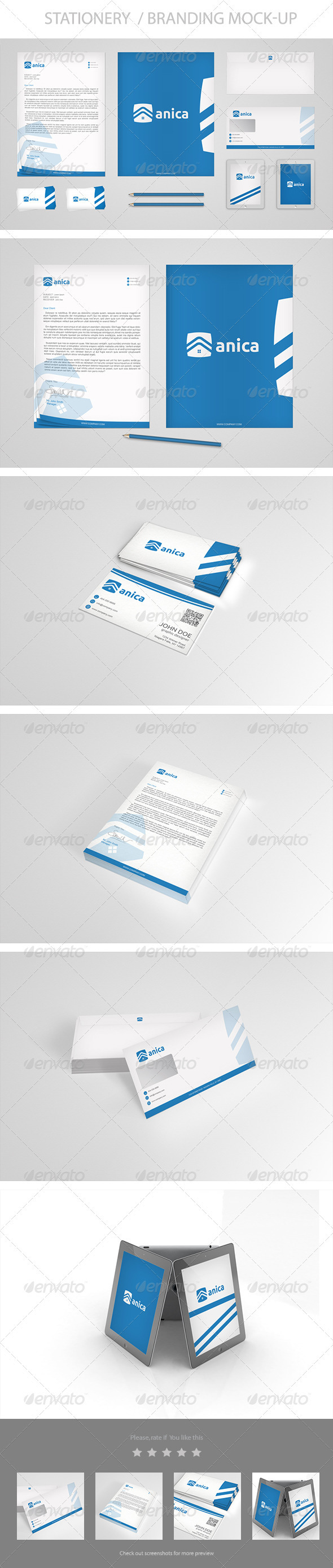 GraphicRiver Stationery Branding Mock-Up Vol 1.0 3580727