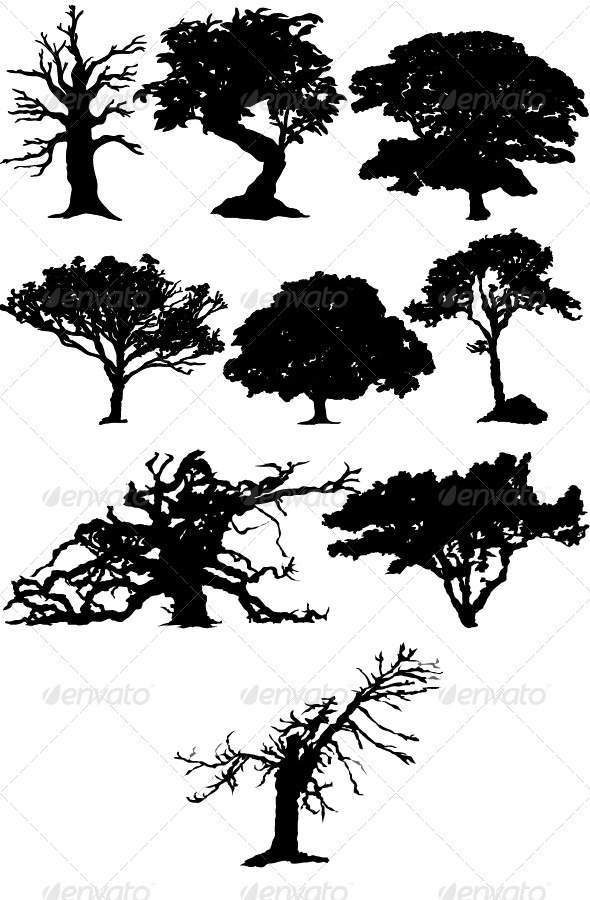 GraphicRiver Trees 3582517