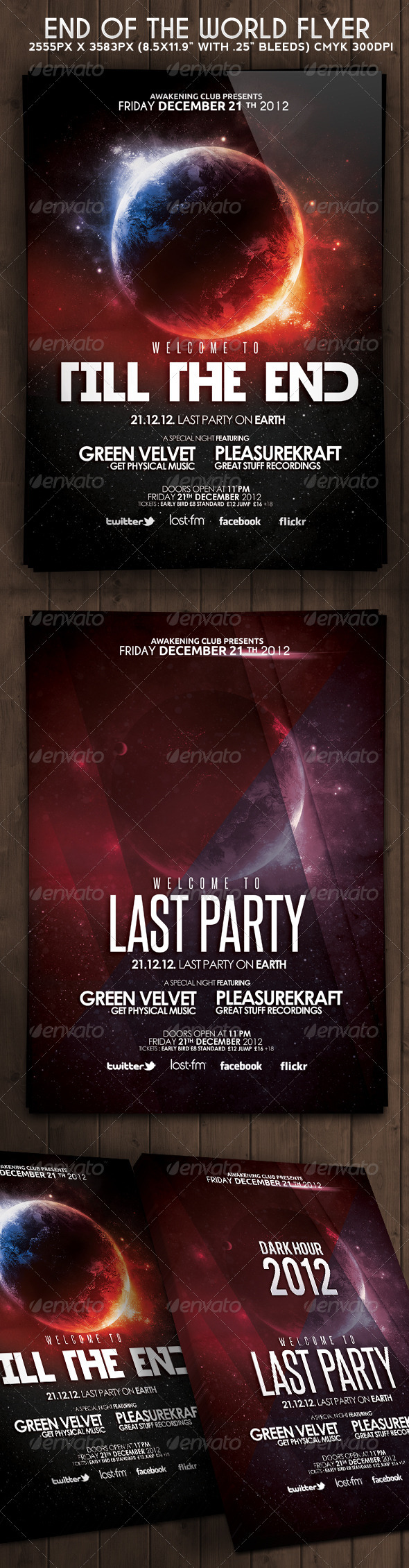 End Of The World Flyer - Clubs &amp; Parties Events