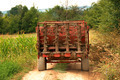 Agricultural machine on rural road - PhotoDune Item for Sale