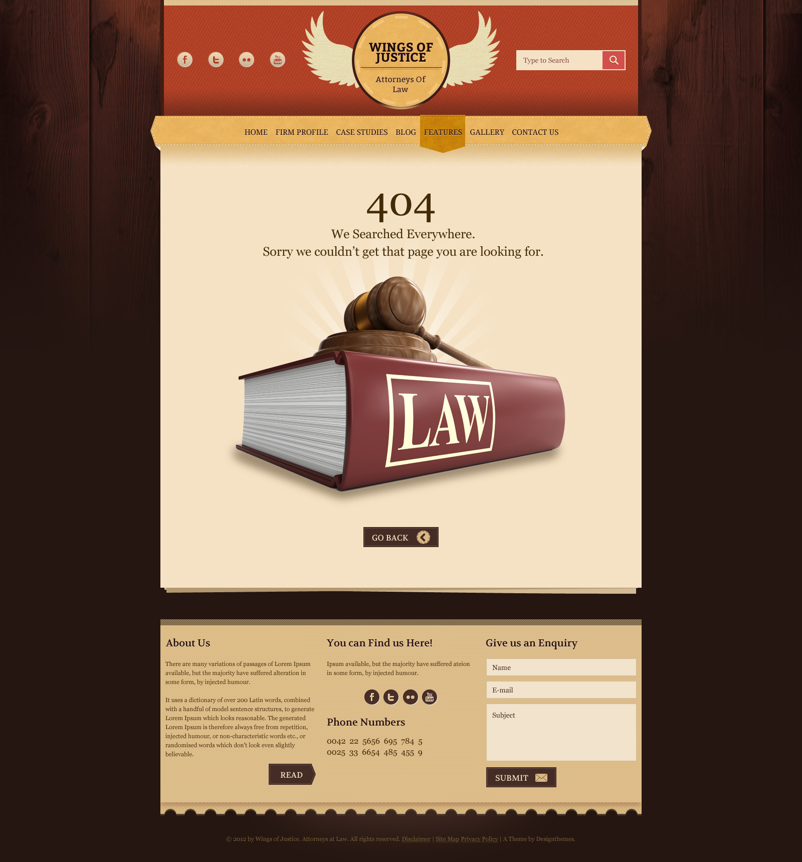 Law / Legal Business  - Responsive HTML Template