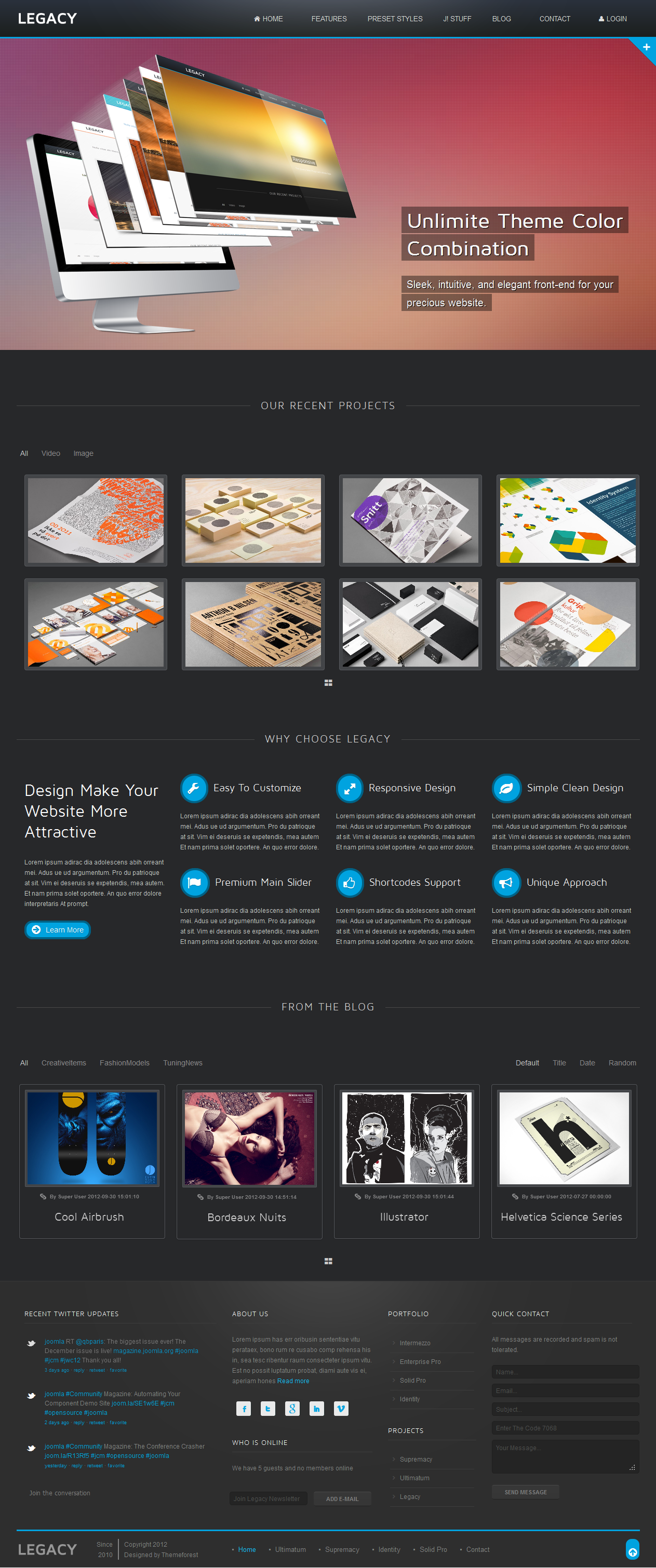 Legacy - Responsive Joomla Theme
