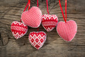 Hearts on wooden background - PhotoDune Item for Sale