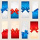 Set of Colorful Gift Cards with Bows and Ribbons - GraphicRiver Item for Sale