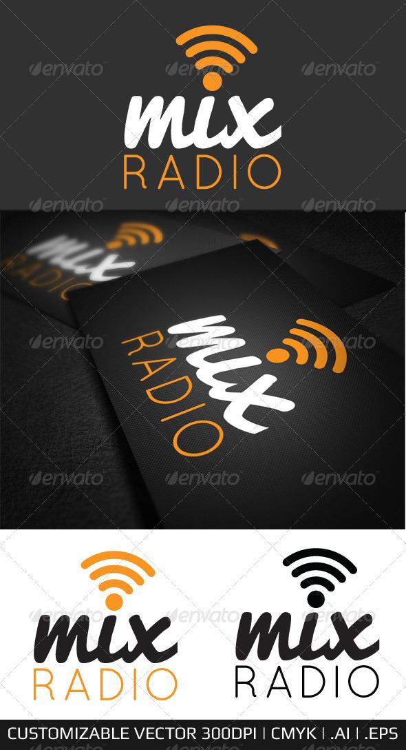 GraphicRiver Mix Internet Radio Logo Template 3583223