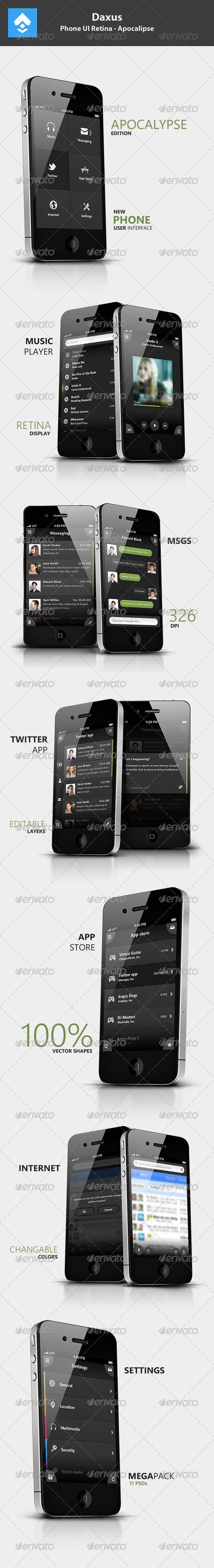 GraphicRiver Phone UI Retina Apocalipse 2986051
