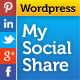jQuery My Social Share for Wordpress - CodeCanyon Item for Sale
