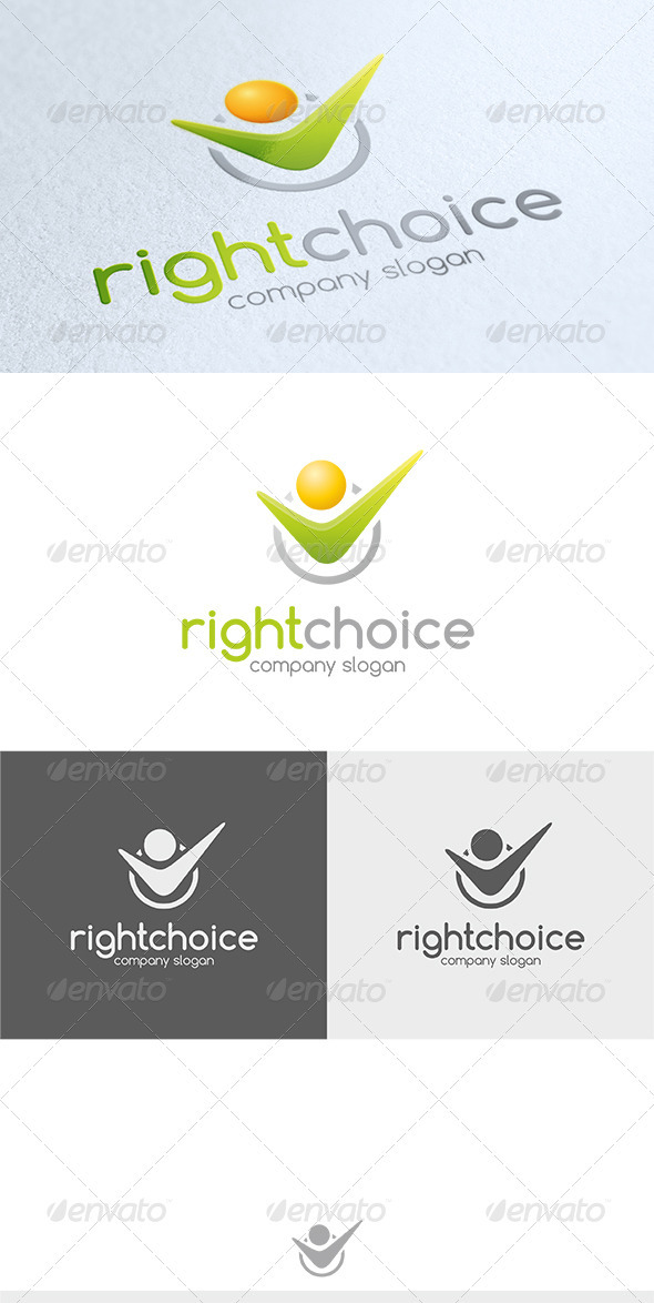 GraphicRiver Right Choice Logo 3584736