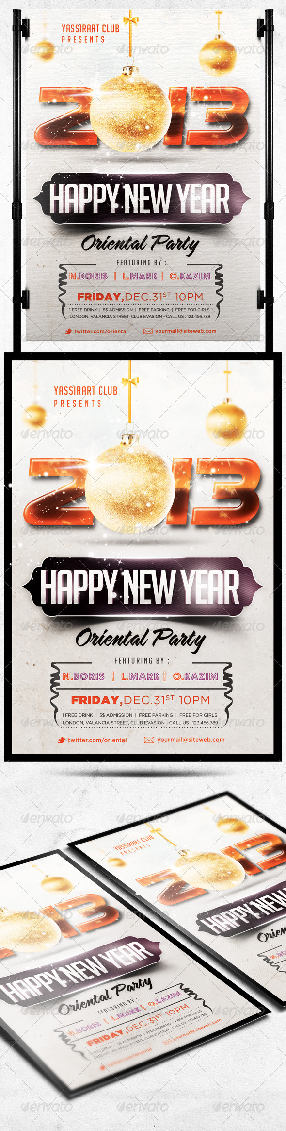 GraphicRiver Happy New Year Flyer Party Template 3584737