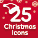 25 Christmas Icons - GraphicRiver Item for Sale