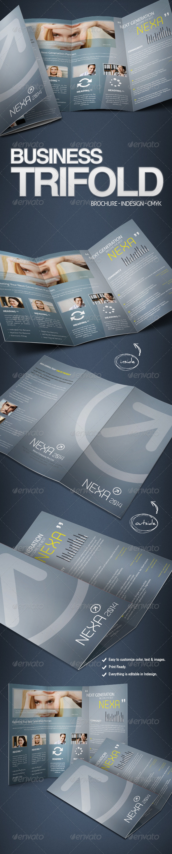 GraphicRiver Business Tri-Fold Brochure 3584967