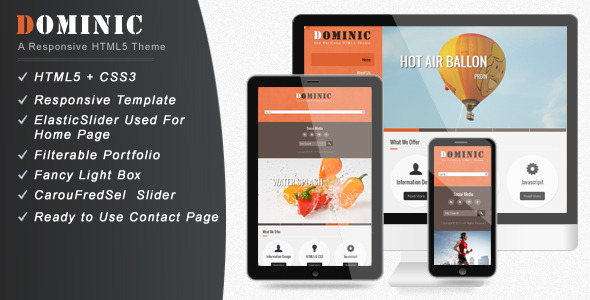 ThemeForest DOMINIC Creative HTML Template 3585458