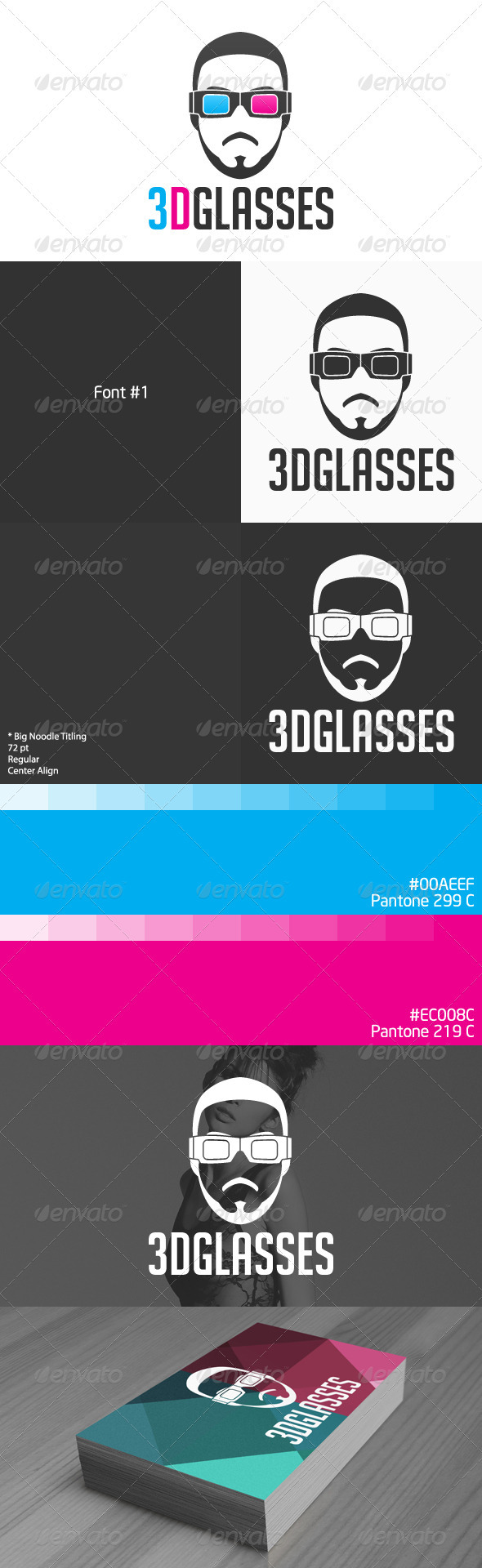 3D Glasses Logo - Vector Abstract
