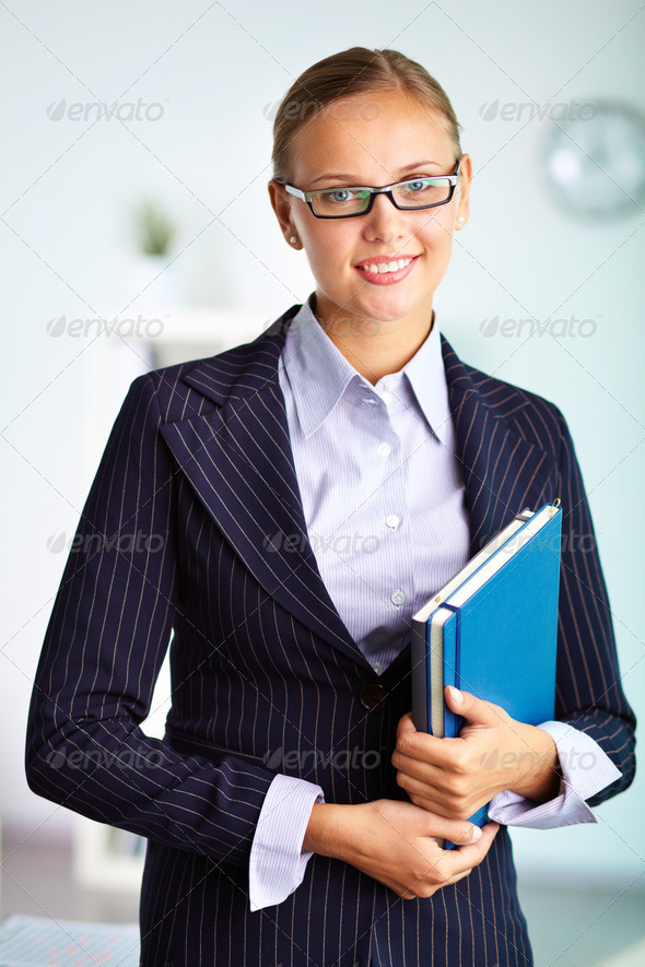 Smart woman - Stock Photo - Images
