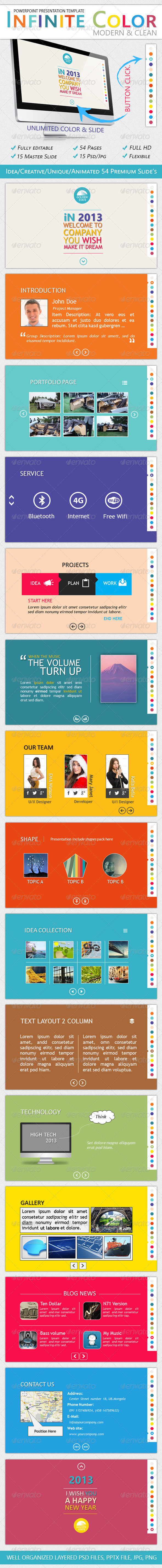 GraphicRiver Infinite Color Powerpoint Presentation Template 3586251