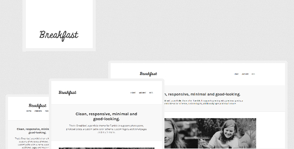 Breakfast - A Responsive Tumblr Portfolio Theme - Blog Tumblr