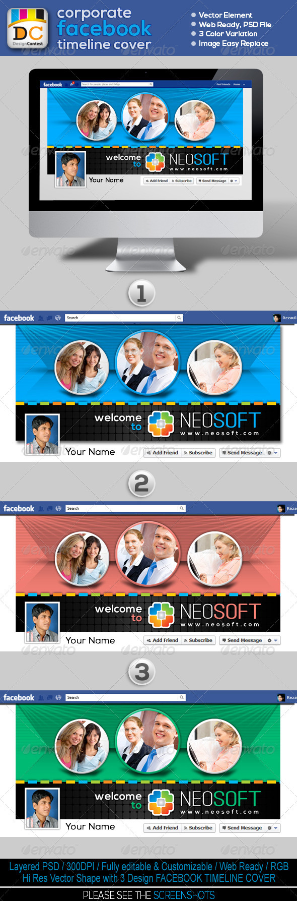 GraphicRiver NeoSoft Corporate FB Timeline Cover 3587525