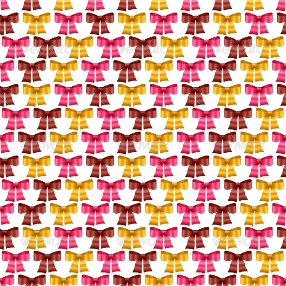 GraphicRiver Valentine Vector Seamless Pattern of Bows 3587524