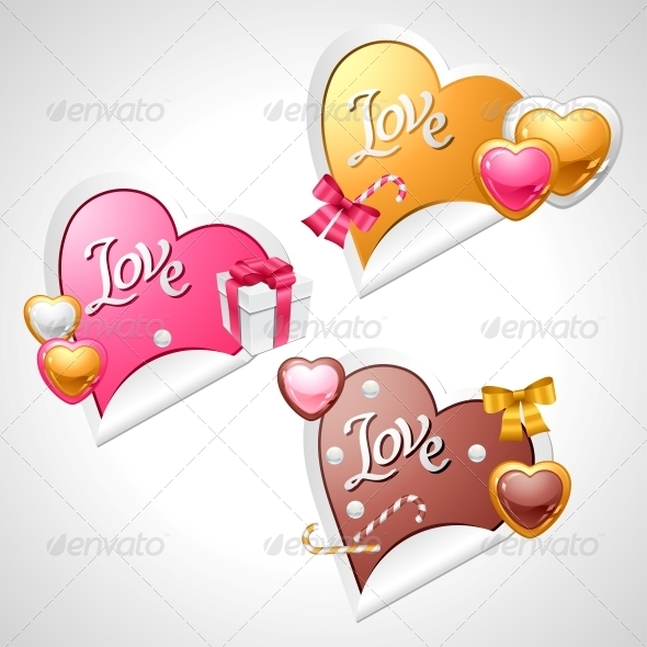 GraphicRiver Valentine s Day Vector Stickers 3587969