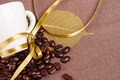 Coffee Cup and  Yellow Ribbon - PhotoDune Item for Sale