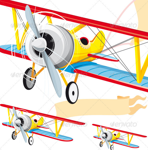 GraphicRiver Plane with Banner 3588542