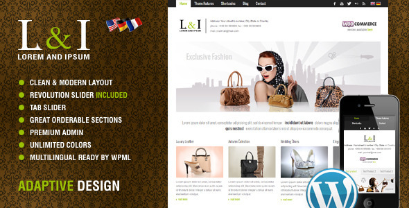 ThemeForest Lorem & Ipsum Universal Corporate Wordpress Theme 3588917