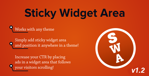 Sticky Widget Area - Plugin for WordPress - CodeCanyon Item for Sale