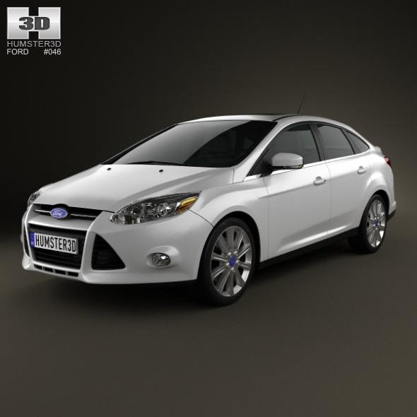 3DOcean Ford Focus Sedan Titanium 2012 3589007