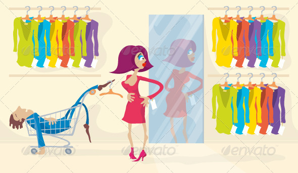 GraphicRiver Trying On Dress 3589090