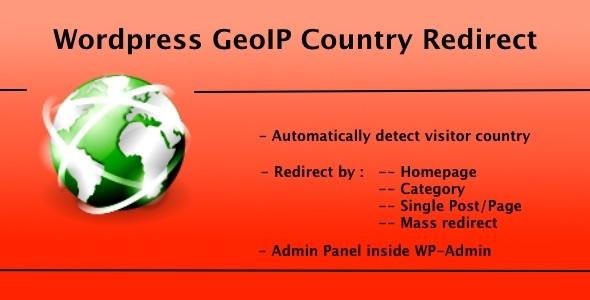 WP GeoIP Country Redirect | CodeCanyon WordPress Plugin
