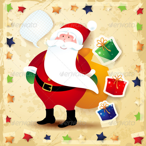 GraphicRiver Santa Claus Background 3589165
