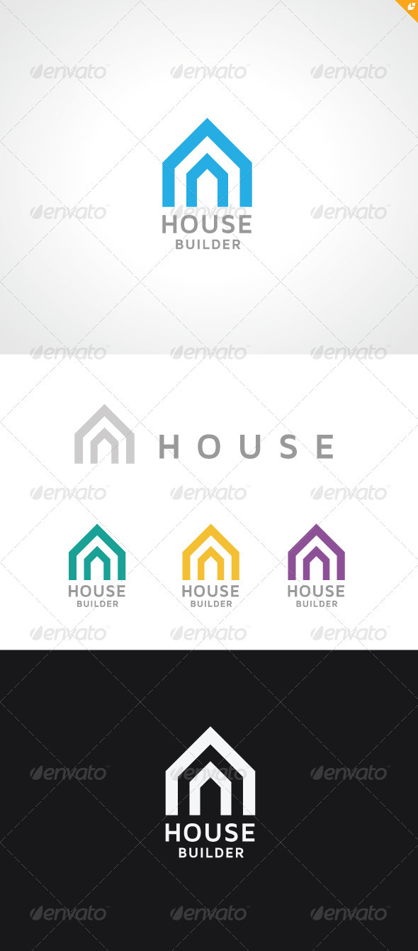 GraphicRiver House Builder Logo 3552679