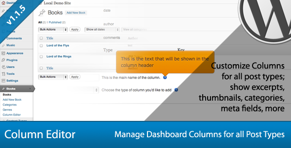CodeCanyon Post Type Column Editor 758157