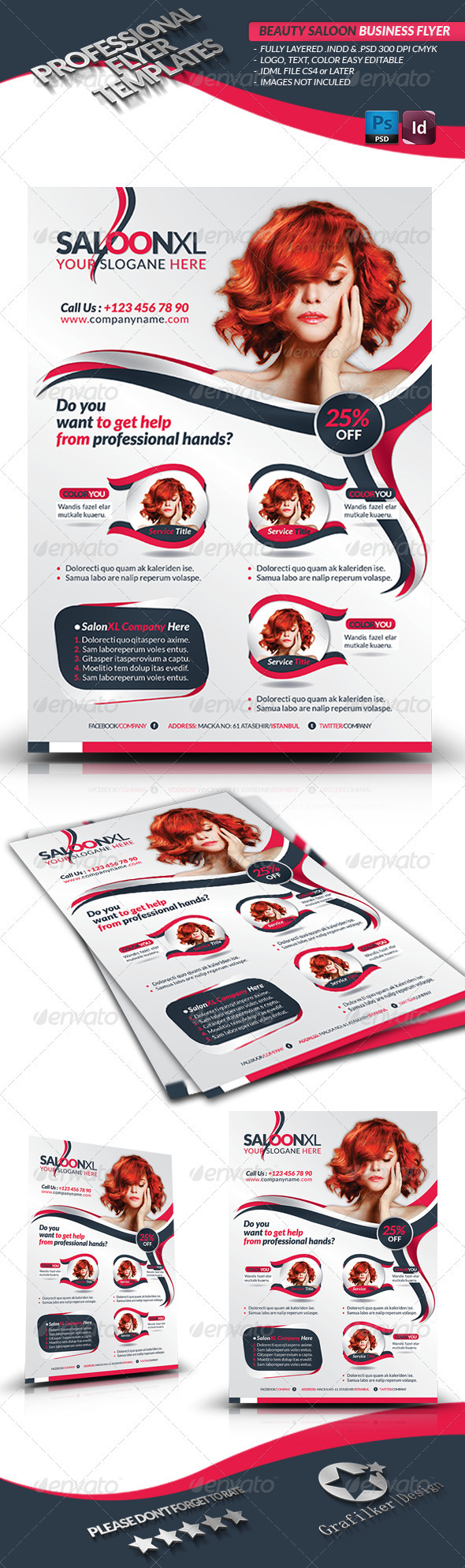 GraphicRiver Beauty Salon Business Flyer 3547768