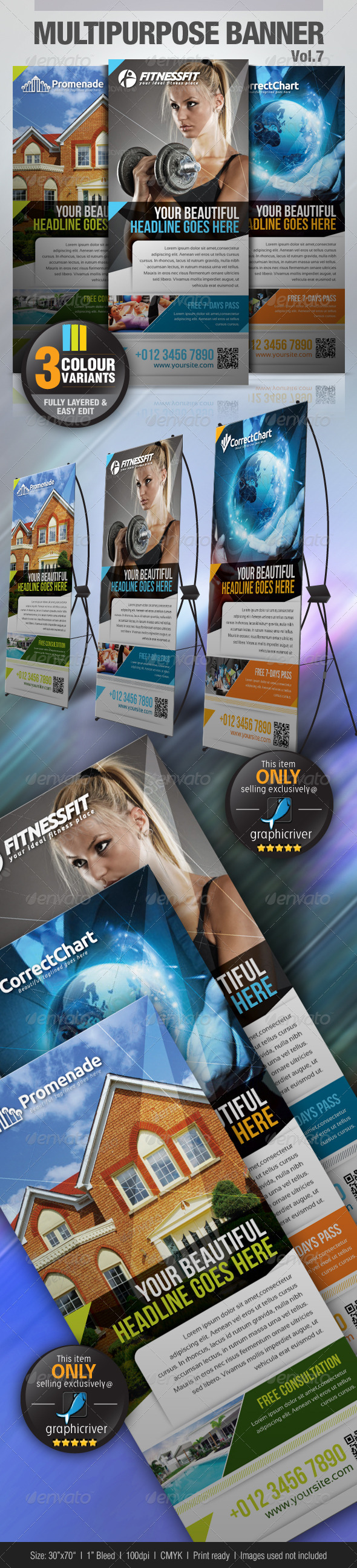 GraphicRiver Multipurpose Banner Vol.6 3589663