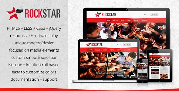 ThemeForest RockStar HTML5 Responsive Template 3574960