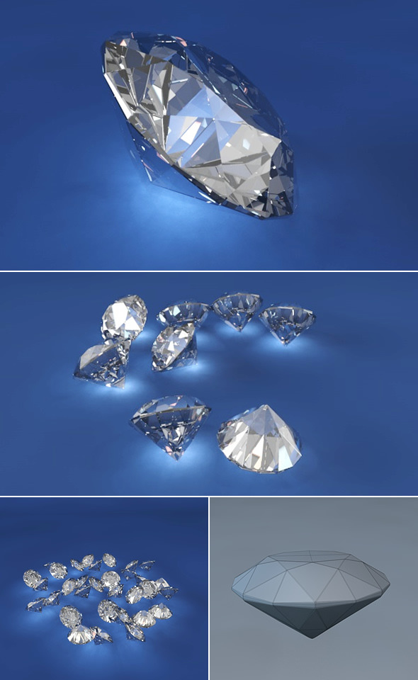 Diamond - 3DOcean Item for Sale