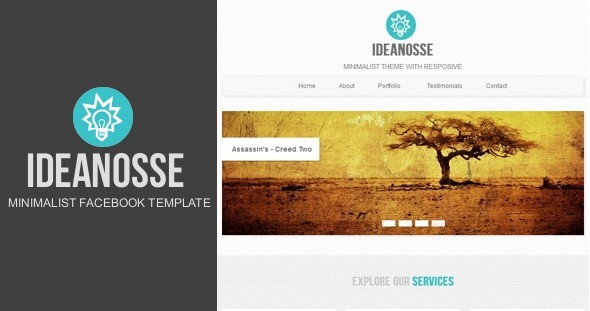 Ideanosse - Minimalist Facebook Template