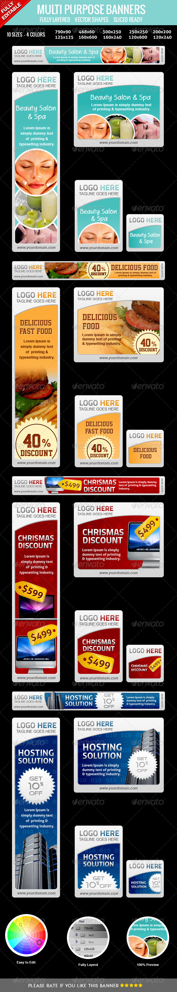 GraphicRiver Multipurpose Web Banners 3556843