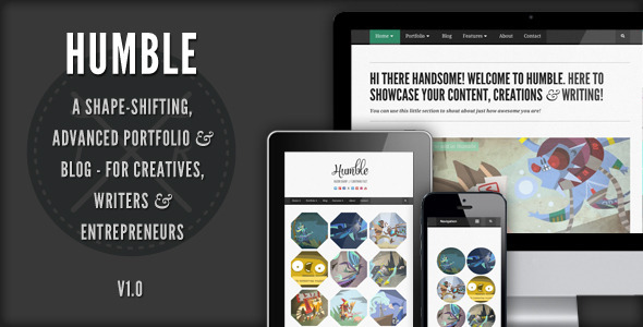Humble - Responsive Wordpress Template - Portfolio Creative